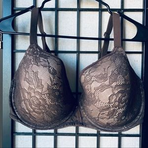 Wacoal lace finesse contour bra brown Sz 38G